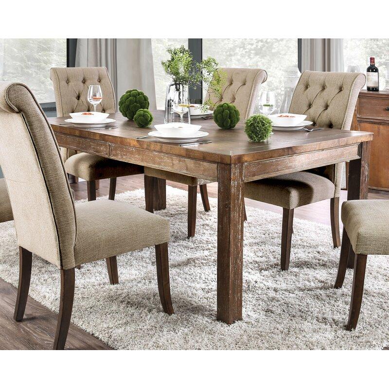 Gracie Oaks Miah Solid Wood Dining Table Wayfair