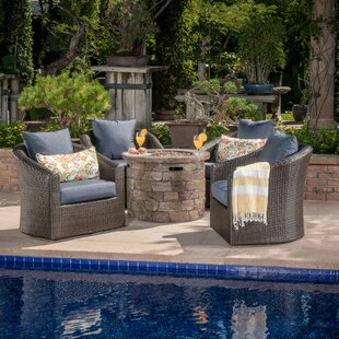 Paxson 5 Piece Rattan with Cushions