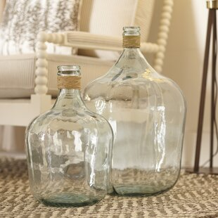 Find Belton Recycled Glass Table Vase By Highland Dunes