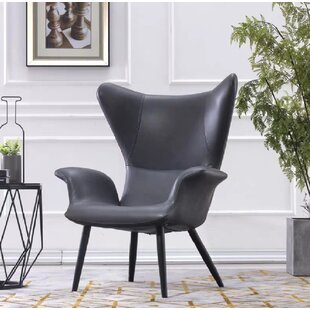 Arnwine Leather Guest Chair By Mercury Row