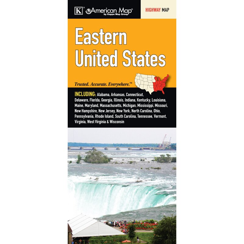 Universal Map United States Regional Eastern Fold Map Wayfair