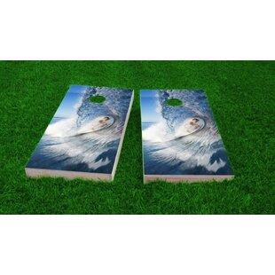 Custom Cornhole Boards Big Wave Surfer Light Weight Cornhole Game Set
