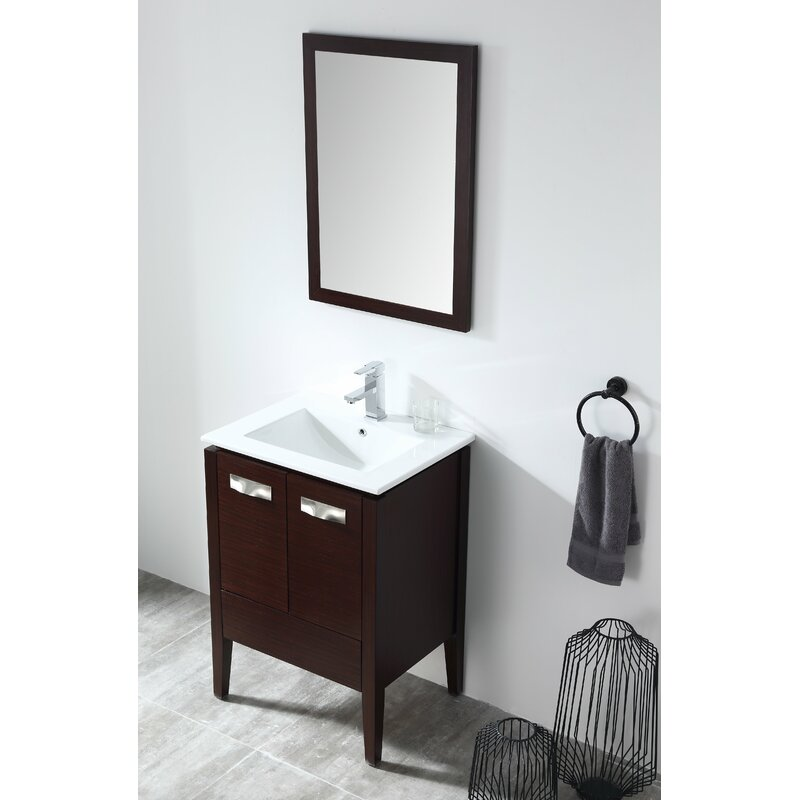 "Brayden Studio Mtmere 24"" Single Bathroom Vanity Set with ..."