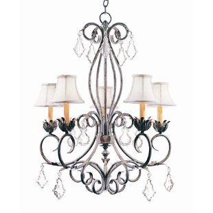 2nd Ave Design Felicia 5-Light Shaded Chandelier