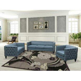 Iseminger 3 Piece Living Room Set