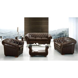 Read Reviews Barkell Leather Configurable Living Room Set by Canora Grey Reviews (2019) & Buyer's Guide