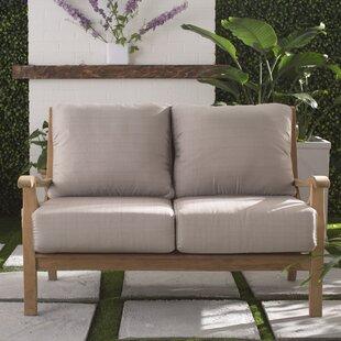 Brunswick Teak Loveseat With Cushions