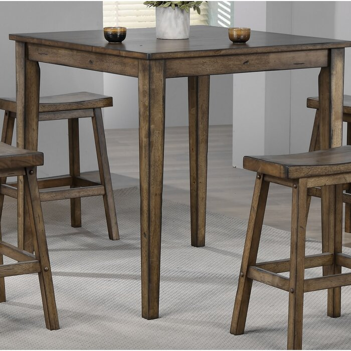 millwood pines stagner square pub table & reviews   wayfair.ca
