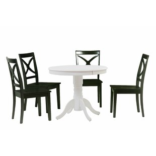 Reichel 5 Piece Solid Wood Dining Set Charlton Home
