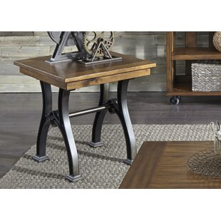 Hartford Slat Drawer End Table by 17 Stories