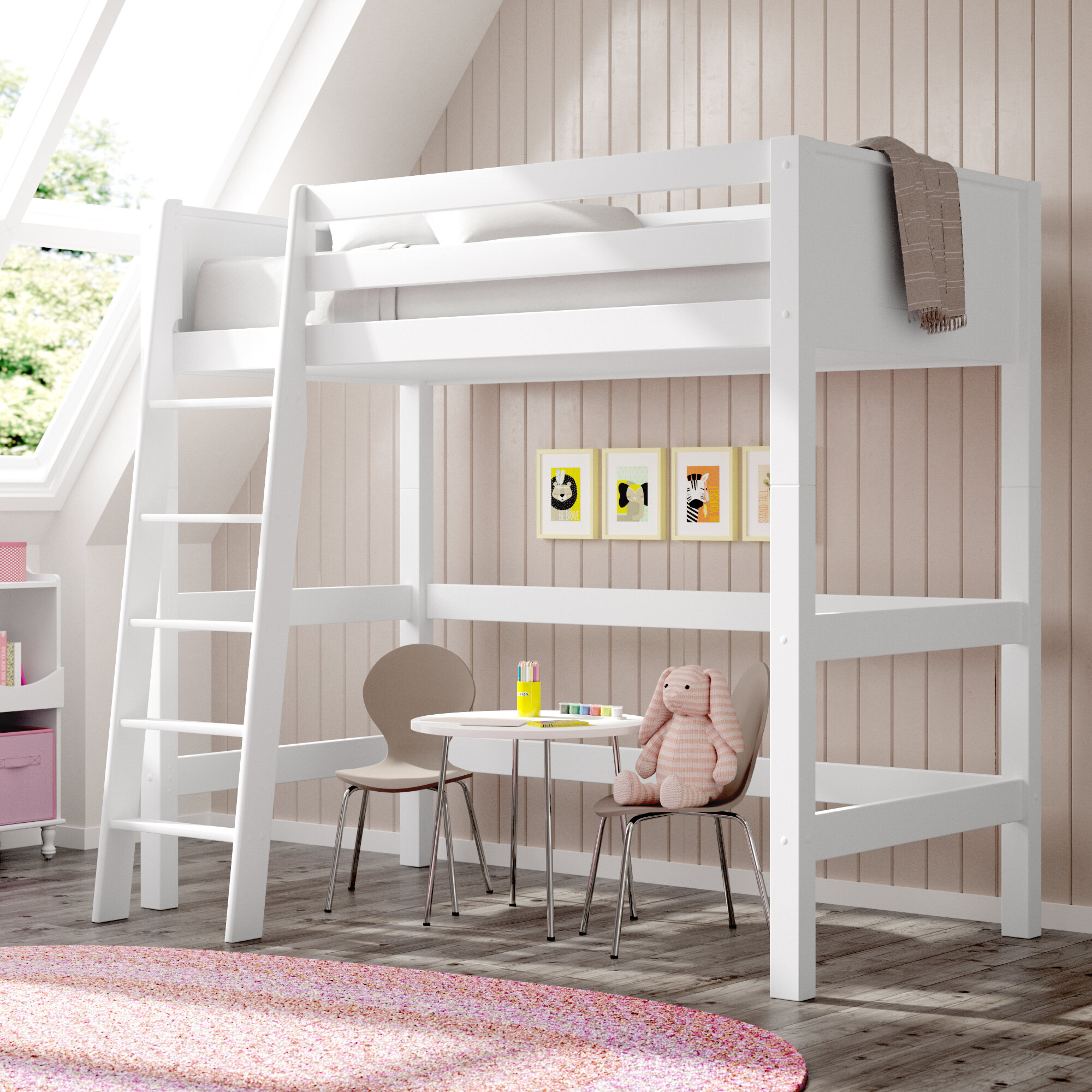 Twin Loft Bed.Burkley Twin Loft Bed