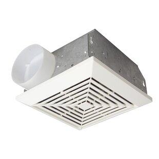 Kitchen exhaust fan with light wayfair premium builder bath exhaust fan 50 cfm aloadofball Image collections