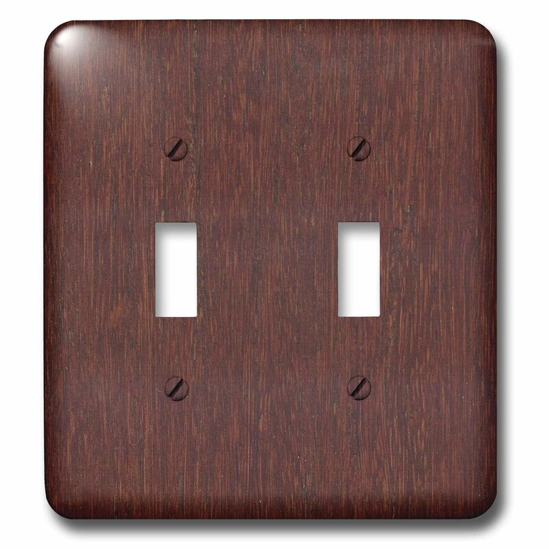 3drose Faux Wood Print 2 Gang Toggle Light Switch Wall Plate Wayfair
