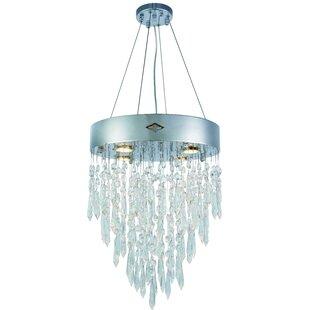 Carmel 4-Light Crystal Chandelier by Orre..