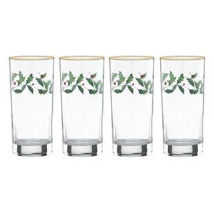 Holiday Highball Glass Set Set Of 4 By Lenox