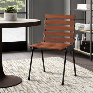 Myah Wood Slat Side Chair Millwood Pines