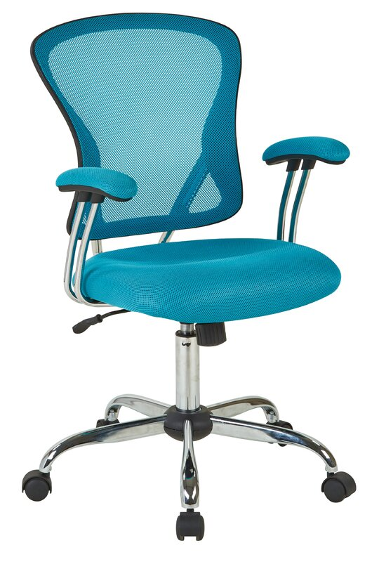 varick gallery alves mid-back mesh desk chair & reviews | wayfair