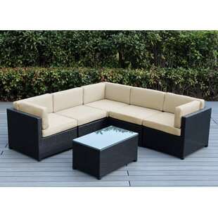 Mezzo 6 Piece Sectional Seating Group with Cushions