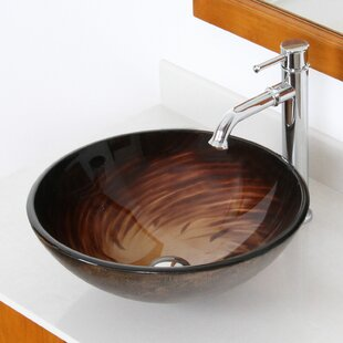 Find the perfect Whirlpool Glass Circular Vessel Bathroom Sink By Elite