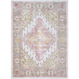 fields browncoral area rug
