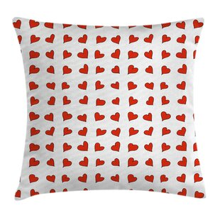 Valentine Hearts Cute Honeymoon Pillow Cover