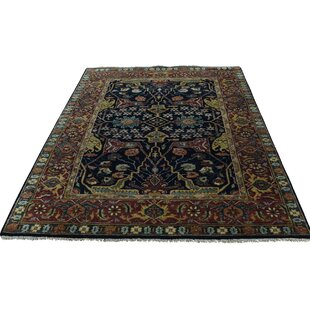 Buying One-of-a-Kind Salzman Re-creation Hand-Knotted Black Area Rug ByAstoria Grand