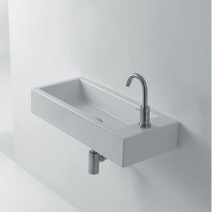 Best Reviews Hox Ceramic 20 Wall Mount Bathroom Sink By WS Bath Collections