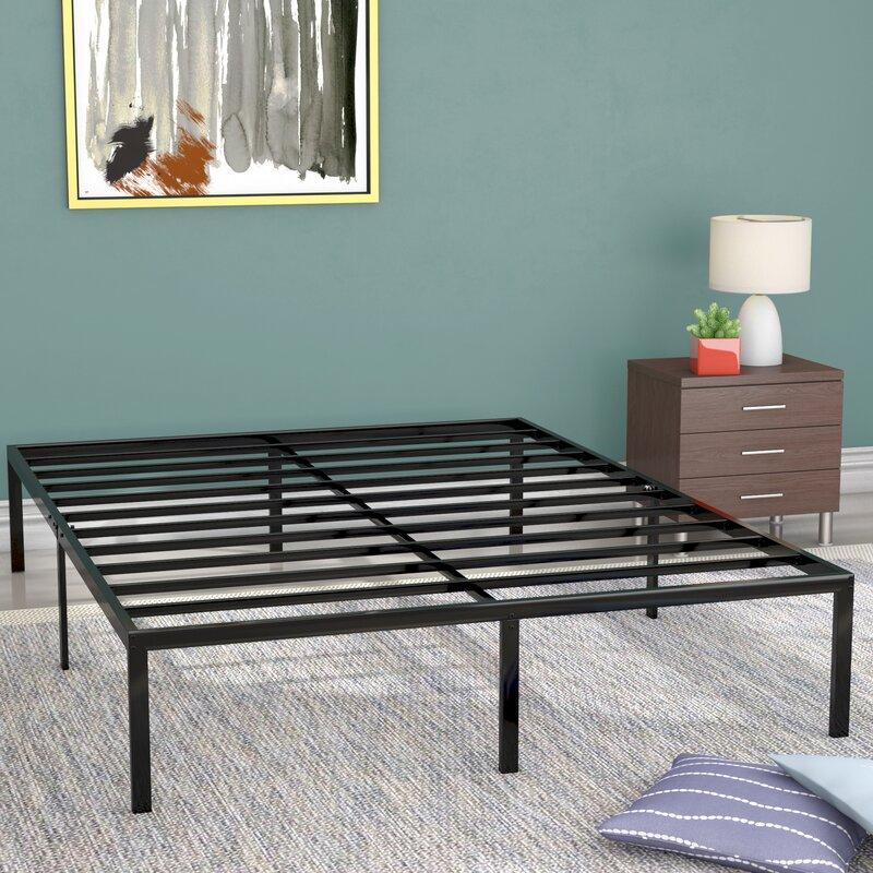Alwyn Home Classic Metal Platform Bed Frame & Reviews | Wayfair
