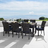 Northridge 9 Piece Dining Set with Sunbrella Cushions