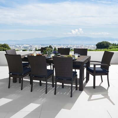 Northridge 9 Piece Dining Set With Sunbrella Cushions by Three Posts Great Reviews