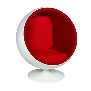 Brayden Studio Kirksey Ball Swivel Balloon Chair