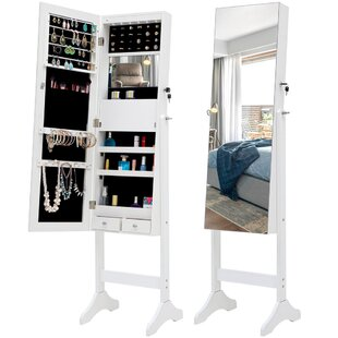 Remiro Free Standing Jewelry Armoire With Mirror By A J Homes Studio Free Shipping