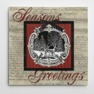 'Vintage Greetings' Graphic Art on Wrapped Canvas
