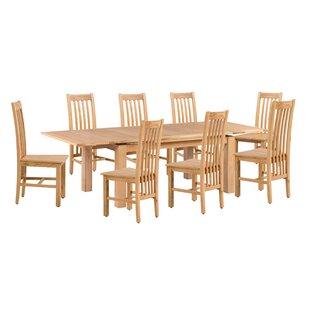 Loon Peak Pecora 9 Piece Extendable Dining Set