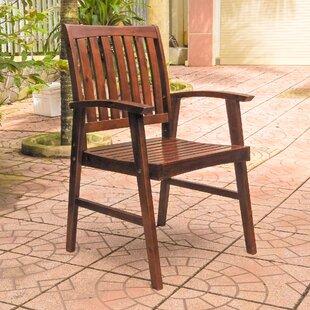 Breakwater Bay Michaela Acacia Patio Dining Chair (Set of 2)