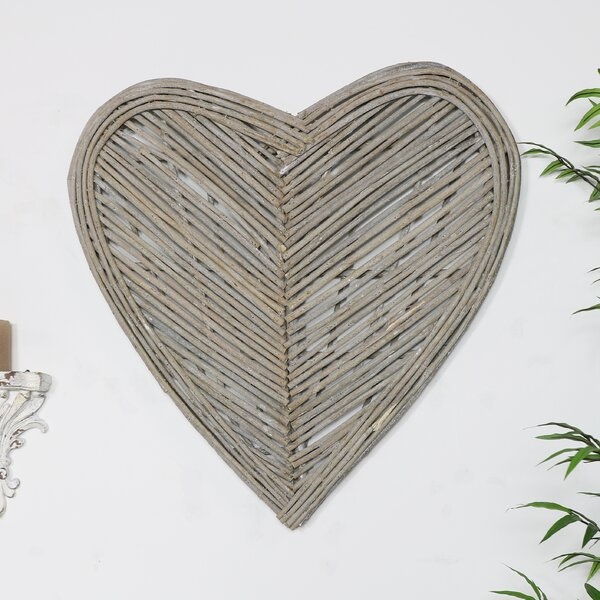 Set 5 Symmetric pieces 20 cm long Large Hearts Wooden Shapes Hanging Hearts