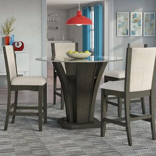 Kangas 5-Piece Round Counter Height Dining Set Brayden Studio