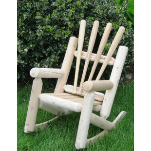Ski Chair Snow Children's Solid Wood Rocking Adirondack Chair