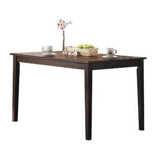 Mattes Tapered Leg Solid Wood Dining Table