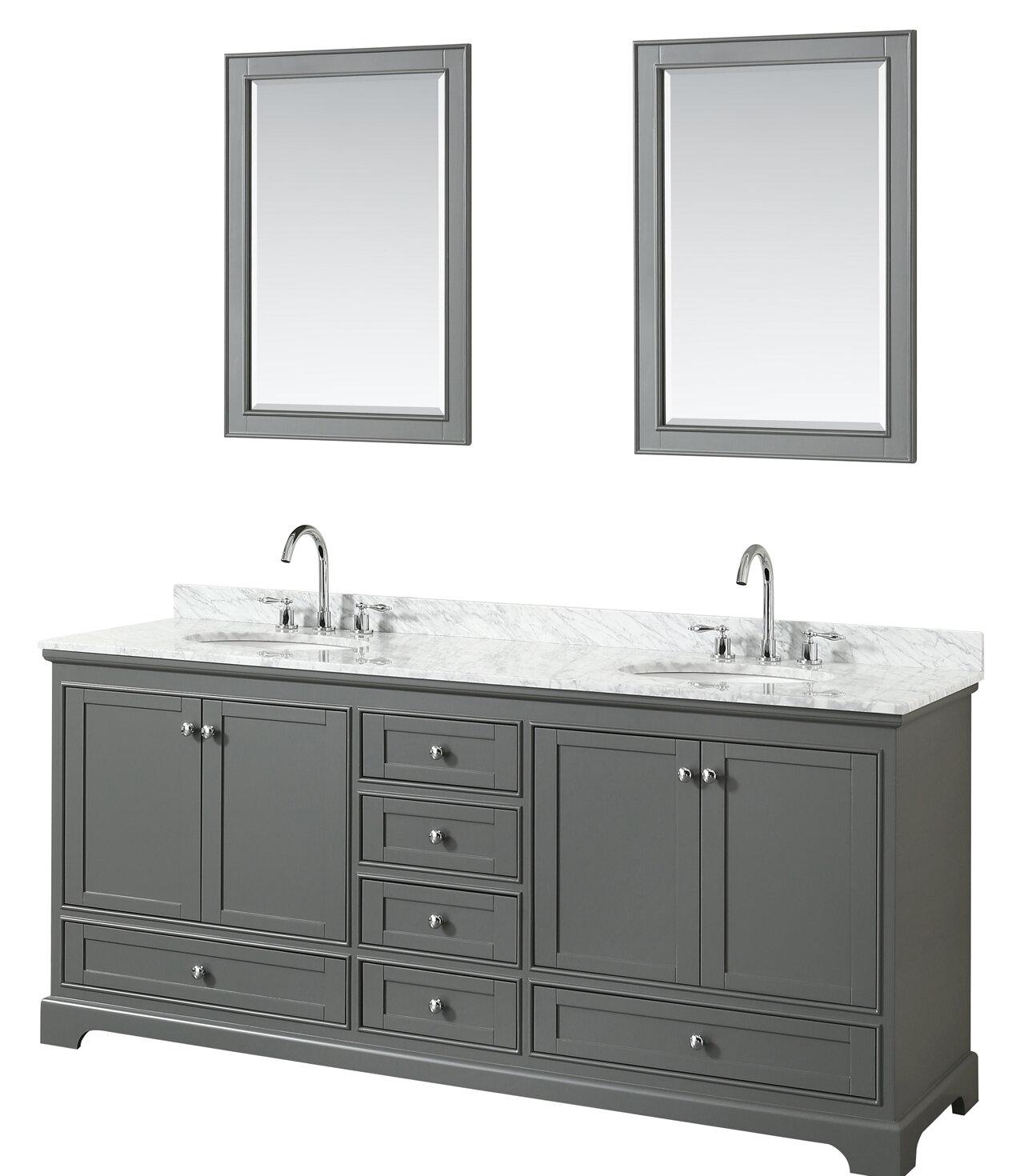 wyndham collection deborah 80 double dark gray bathroom vanity set rh wayfair com vintage colored bathroom sinks bone colored bathroom sinks