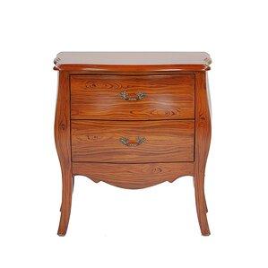 woodgrain classic 2 drawer bombay chest