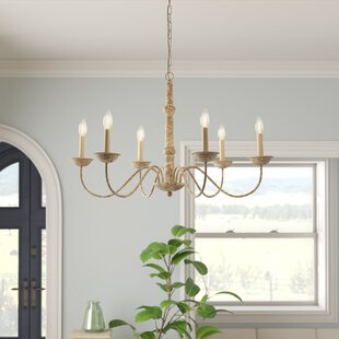 Candle chandeliers youll love wayfair seneca 6 light chandelier aloadofball Image collections