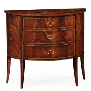 Demilune 3 Drawer Accent Chest by Jonathan Charles Fine Furniture