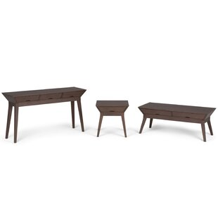 Alderete 3 Piece Coffee Table Set