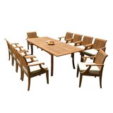Dimitri 11 Piece Teak Dining Set