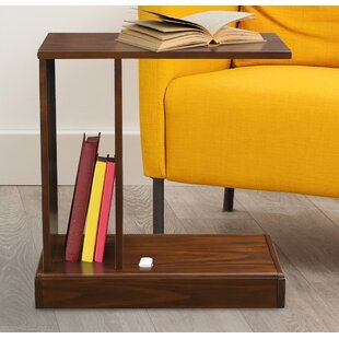 Augie C-Table with Concealed Drawer