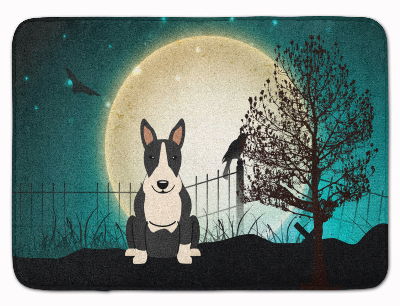 The Holiday Aisle Eila Bull Terrier Rectangle Microfiber Non Slip Bath Rug Wayfair