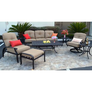 Kristy 7 Piece Sunbrella Sofa Set with Cushions