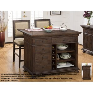 Addison Avenue 3 Piece Kitchen Island Set by Three Posts
