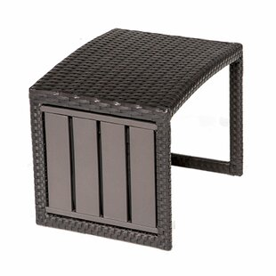 Meier Wicker Side Table by Rosecliff Heights Modern